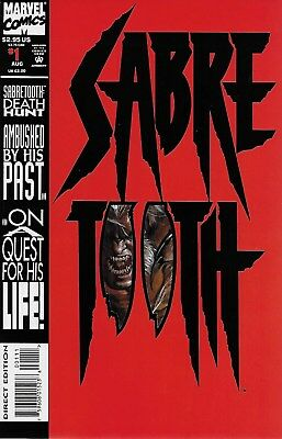 Sabretooth Cover (Sabretooth: Death Hunt No.1 1993 Special Die-Cut Cover / Larry Hama Mark Texeira)