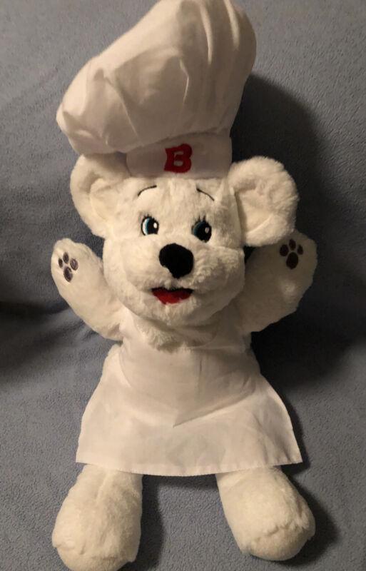 "Bimbo Bread Bakery Polar Bear Plush Chef Puppet Doll Toy 16"" Soft Puppet"