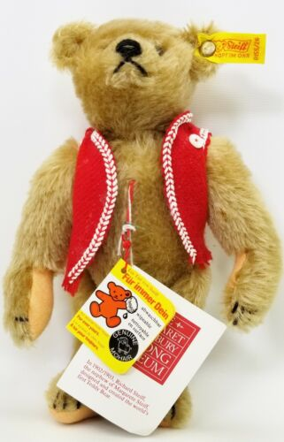 """Steiff 1904 Replica Margaret Strong Museum Collection 10"""" Teddy Bear 0155/26"""