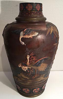 Jugendstil  Vase 46cm Villeroy & Boch Mettlach Chinoiserie