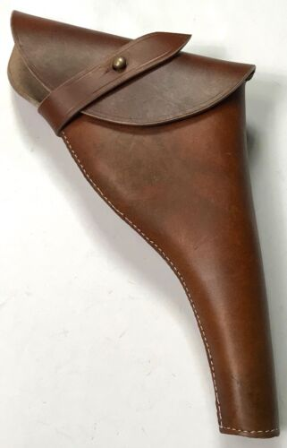 British WWI & WWII .455 Webley Revolver- Brown Leather Holster