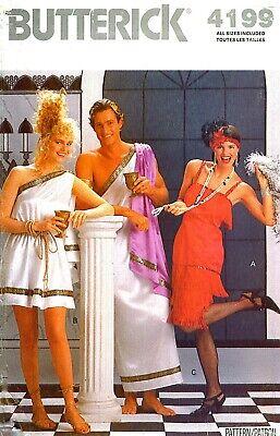 Greek Costume Patterns (OOP! MEN & WOMEN ROMAN GREEK FLAPPER COSTUME SEWING PATTERN XS-L Butterick)