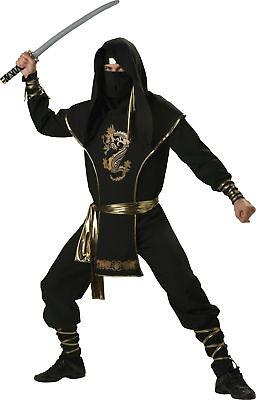 Ninja Krieger Elite Sammlung Erwachsene Herren-Kostüm Karate Spion Halloween ()