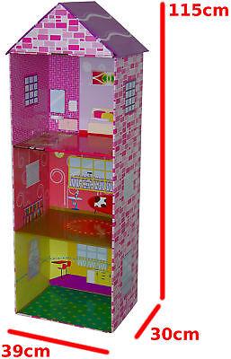 1,15 Meter hohes Puppenhaus [ auch für große Puppen ] Puppenstube Spielhaus #r1