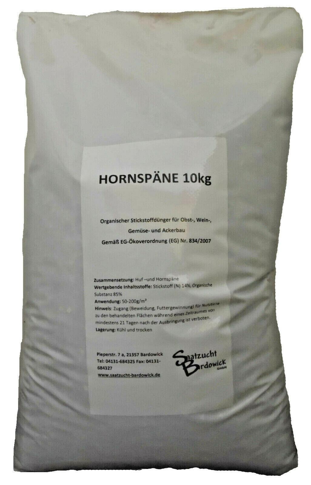 Hornspäne 10Kg Organischer Bio Gartendünger Dünger Natürdünger Gemüse Blumen