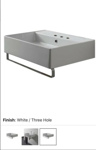 Scarabeo 8031/R 3-hole Teorema Bathroom Sink