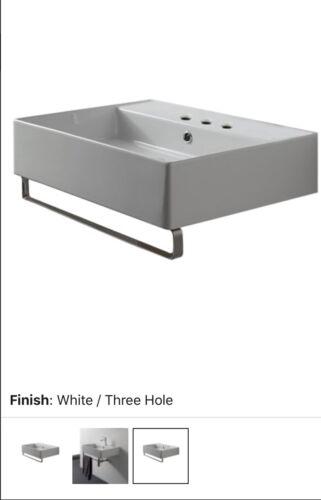 Scarabeo 8031/R 3-hole Teorema Bathroom Sink