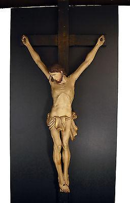 Christ jansenist 18TH/XIX° wooden carved crucifix Christus crucifix H: 34 5/16in