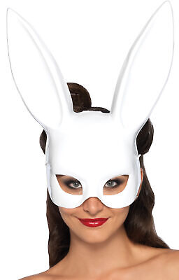 Bunny Rabbit White Rabbit Face Mask Masquerade Parties Halloween Leg Avenue](Halloween Bunny Face)