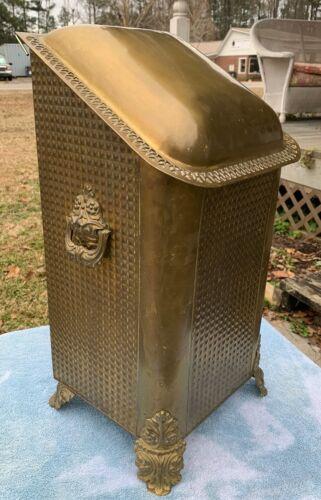 Vintage Antique Ornate Brass Coal Hod Scuttle Box