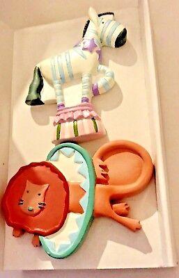 New Kidsline Drawer Knobs Lion Zebra Big Top New in Package -