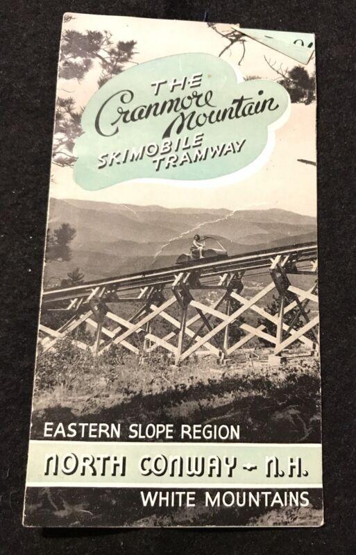 MT CRANMORE SKIMOBILE Vtg Skiing Brochure NEW HAMPSHIRE Resort Souvenir Travel