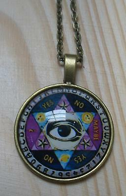 Halskette OUIJA Necklace Witchboard Magie Esoterik