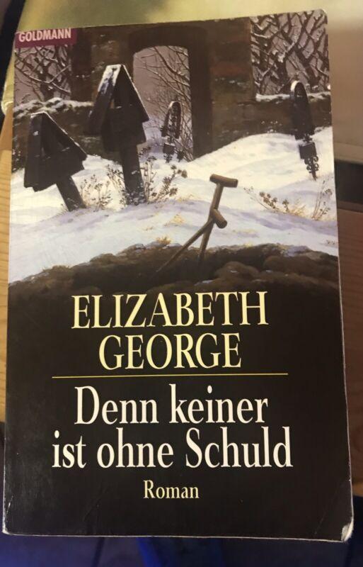 Denn keiner ist ohne Schuld von Elizabeth George Taschenbuch