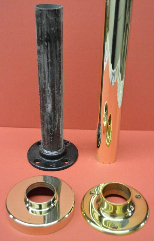 "Dance Fitness Spinning Stripper Pole Polished Brass Heavy Duty 1 1/2"" 8 ft. Kit"