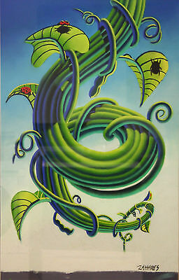 Wade Zahares, Jack and the Bean Stalk, Signed Original Pastel Art