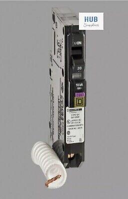 1pc Square D Qo120df Qo120dfc 20a Dual Function Afcigfci Circuit Breaker New