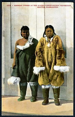 SIBERIAN ESKIMO WOMEN @ 1909 ALASKA-YUKON PACIFIC WORLD'S FAIR~MITCHELL POSTCARD](Eskimo Women)