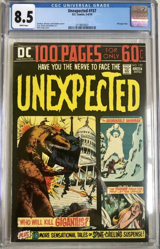 Unexpected #157  CGC 8.5 White Pages