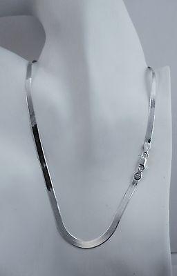 4.7mm Herringbone Chain Italian Sterling Silver Necklace 16,18,20,22,24 inch NEW Italian Sterling Silver Herringbone Chain