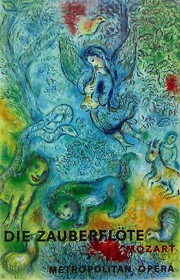 MARC CHAGALL The Magic Flute (Die Zauberflote) 1967 Mourlot Lithograph Art Print