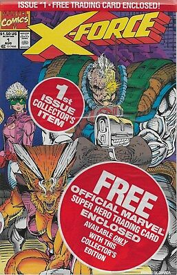 X-Force No.1 / 1991 OVP mit X-Force Trading Card / Rob Liefeld
