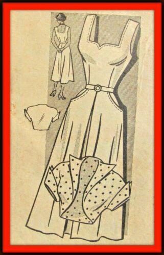 SUNDRESS and BOLERO Pattern RARE Anne Adams T4738 Vintage 1950