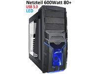 Azza 200mm Blue Quad LED PC Case Side Panel Ventilation Cooling Mod Fan Lot 2