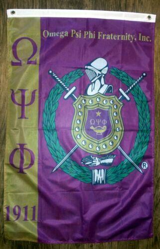 Omega Psi Phi Flag Size 2 ft x 3 ft