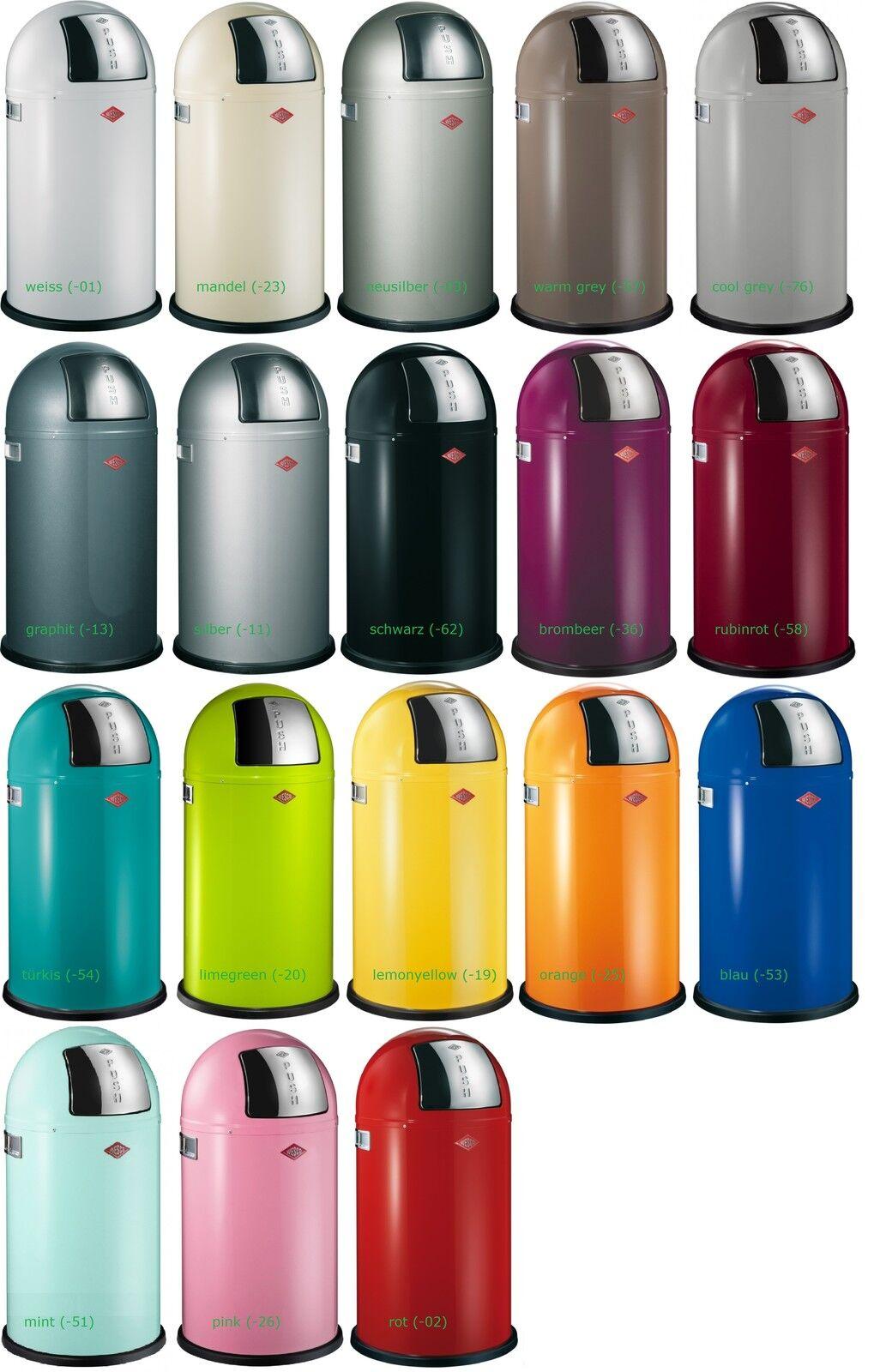 Wesco Pushboy 50-Liter, Mülleimer , Abfallsammler in vielen Farben vorrätig