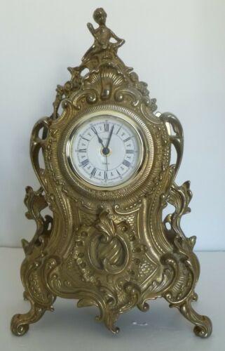 URANIO Quartz Movement Brass Mantel Clock Made in Italy