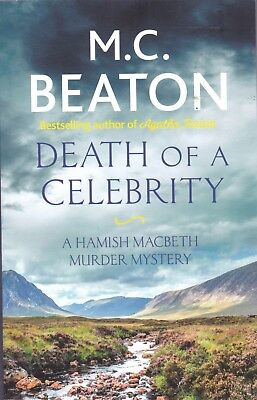 M.C. BEATON: DEATH OF A CELEBRITY, NEW PAPERBACK BOOK (HAMISH MACBETH MURDER) for sale  Shipping to Ireland