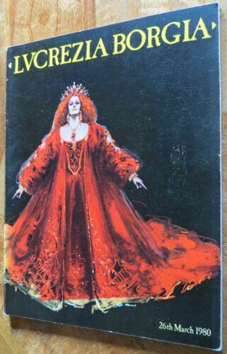 Lucrezia Borgia Programme March 1980 Sutherland Royal Opera House Covent Garden