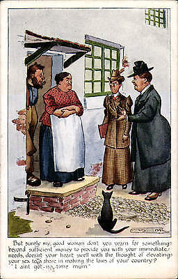 Suffragette Comic. But Surely My Good Woman... by Faulkner # 777F.