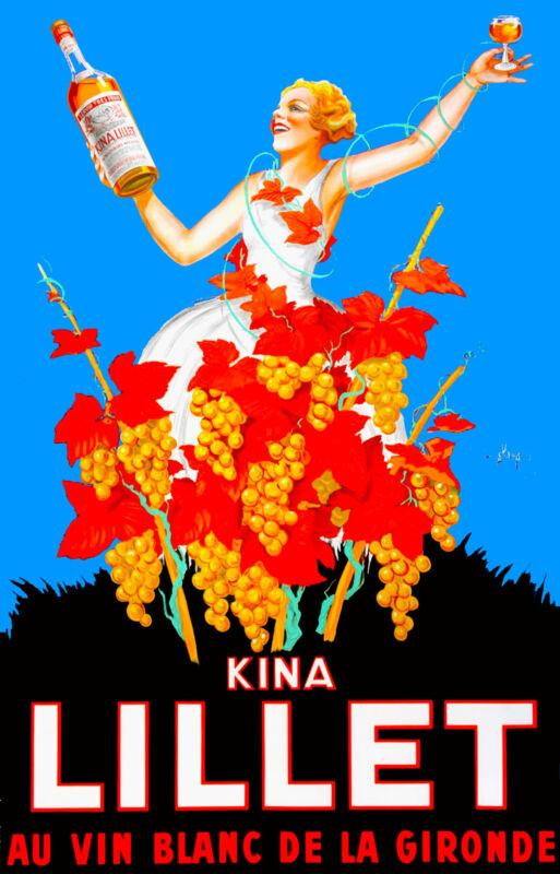 Kina Lillet Au Vin Blanc De La Gironde French Wine France Advertisement Poster