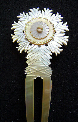Victorian Wigs, Hair Pieces  | Victorian Hair Jewelry Victorian hair comb carved mother of pearl hair ornament $200.00 AT vintagedancer.com