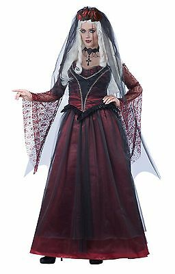 Immortal Vampire Bride Dress Veil Gothic Gown Costume Adult Women