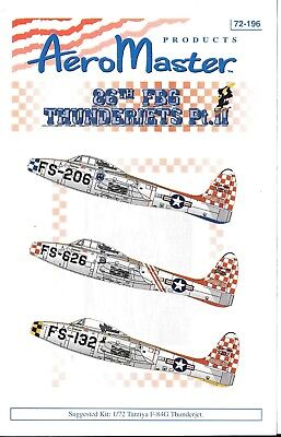 Aeromaster Colorato 86th Fbg F-84G Thunderjet Calcomanie Parte II in 1/72 196