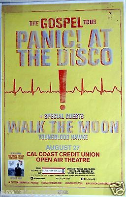 "PANIC AT THE DISCO / WALK THE MOON ""GOSPEL TOUR"" 2014 SAN DIEGO CONCERT POSTER"