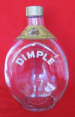 RARE Vintage Haig Pinch Dimple w/ Gold Netting Overlay Scotch Decanter Scotland for sale  San Diego