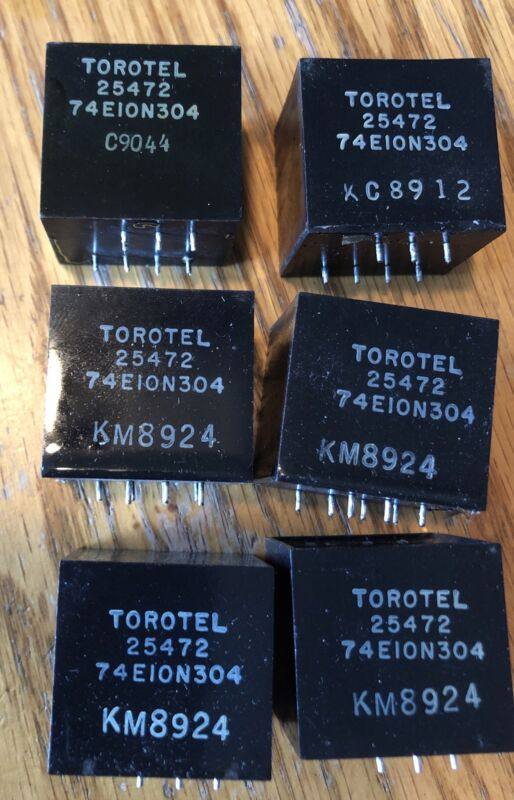 Torotel Transformer Audio Frequency 74E10N304 Lot Of 6