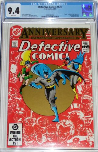 Detective Comics #526 CGC 9.4 from May 1983 Anniversary Issue.