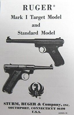 (Sturm Ruger Mark I Target Model Standard Manual)