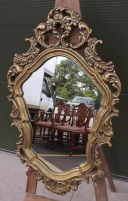 Decorative Gilt-Framed Mirror in the Antique Rococo Style (71cm x 42cm)