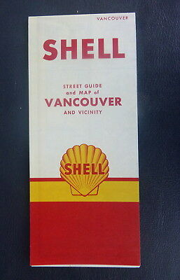 1959 Vancouver street  map Shell oil  gas Canada Victoria Frasier Valley