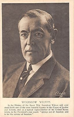 POSTCARD  POLITICS   USA  Woodrow  Wilson                TUCK