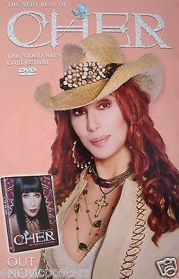 "CHER ""VIDEO HITS COLLECTION"" U.S. PROMO POSTER -Wearing Cowboy Hat & Rhinestones"