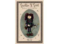 "*NEW* Cloth Folk Art Doll Paper Pattern /""Snowbelle/"" By Sparkles /'N/' Spirit"