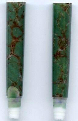 NOS Waterman Phileas Pen FP RB Barrel in Blotches in Amazon Green Marble Veins
