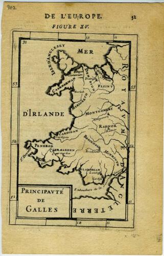 1683 Genuine Antique map Ireland, d
